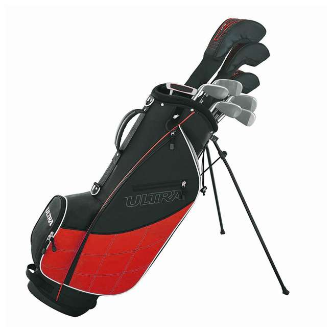 WGGC43200 Wilson Golf Ultra Men's 9-Club Right-Handed Set, Black & Red