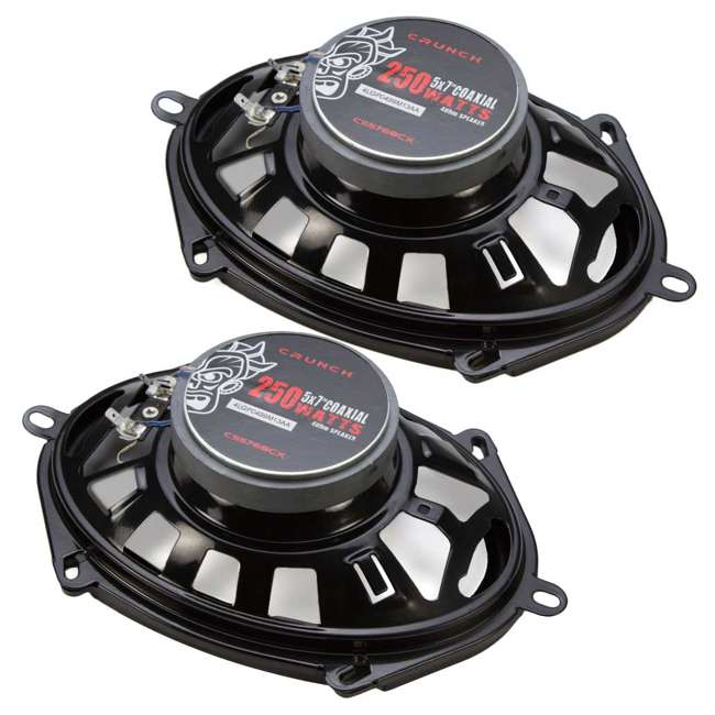 CS-5768CX Crunch 250W Full-Range 2-Way Coaxial 5x7 by 6x8 Inches Speakers 4