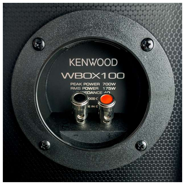P-W101B-U-B Kenwood 10 Inch Car Loaded Vented Subwoofer & 500W Amplifier Package (Used) 4