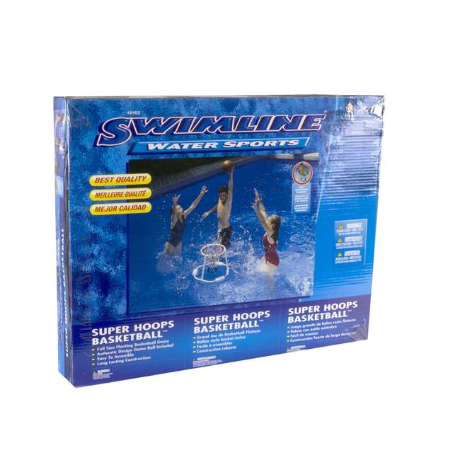 6 x 9162 Swimline 9162 Swimming Pool Floating Basketball Game (Open Box) (6 Pack) 5