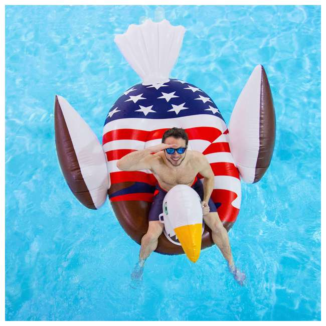 90700 Giant Patriot Eagle Swimming Pool Float 10