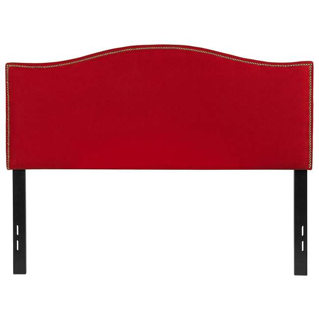 HG-HB1707-F-R-GG Flash Furniture Lexington Upholstered Full Size Headboard with Trim & Red Fabric