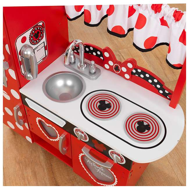 Kidkraft Disney Jr Minnie Mouse Vintage Kitchen Set Kdk