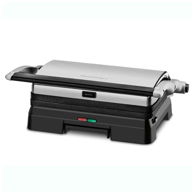 GR-11-RB Cuisinart Stainless Steel Griddler Grill & Panini Press (2 Pack) (Certified Refurbished) 3