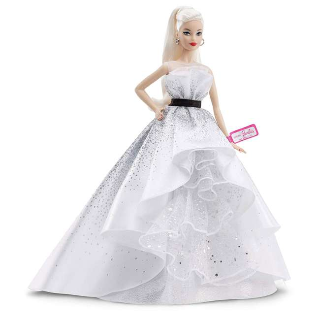FXD88 Mattel FXD88 Barbie 60th Anniversary Doll Collector Toy in Silver Ball Gown