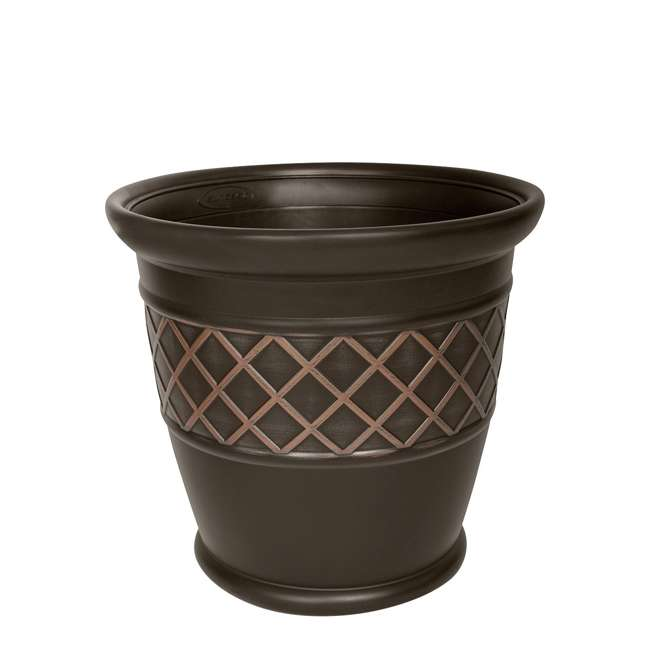 P181601E34 Atlin 18-Inch Resin Round Decorative Planter (2 Pack)