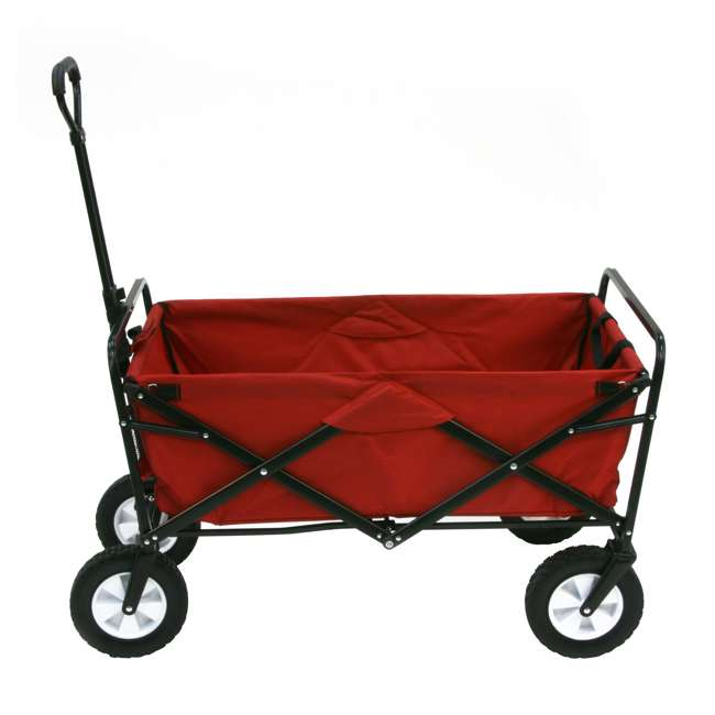 MAC-WTC-109-RED-U-A Mac Sports Collapsible Steel Frame Outdoor Utility Cart(Open Box) (2 Pack)