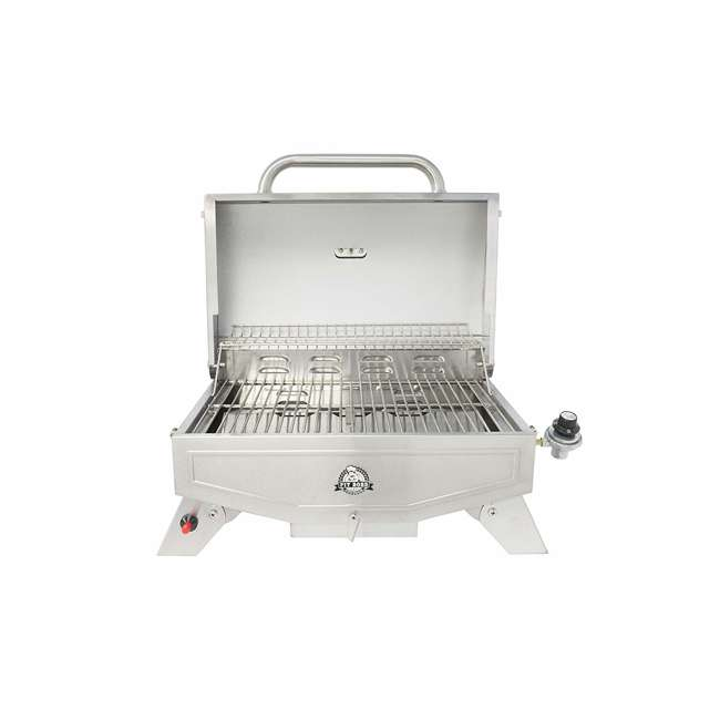 75275 Pit Boss Grills Stainless Steel Portable 2 Rack Propane Gas Grill, 1 Burner 1