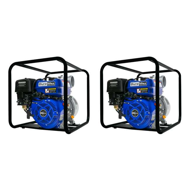 XP904WP DuroMax 9 HP 427 GPM 3,600 RPM 4-Inch Portable Water Pump (2 Pack)