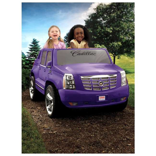 X3419 Power Wheels Cadillac Escalade 12V Electric Ride-On - Purple | X3419