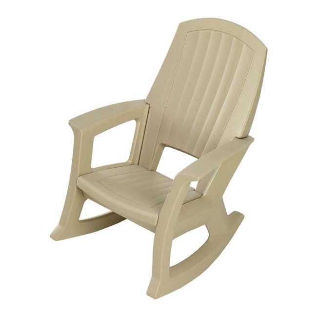 SEMS Semco Plastics SEMS Recycled Plastic Resin Outdoor Patio Rocking Chair, Sand