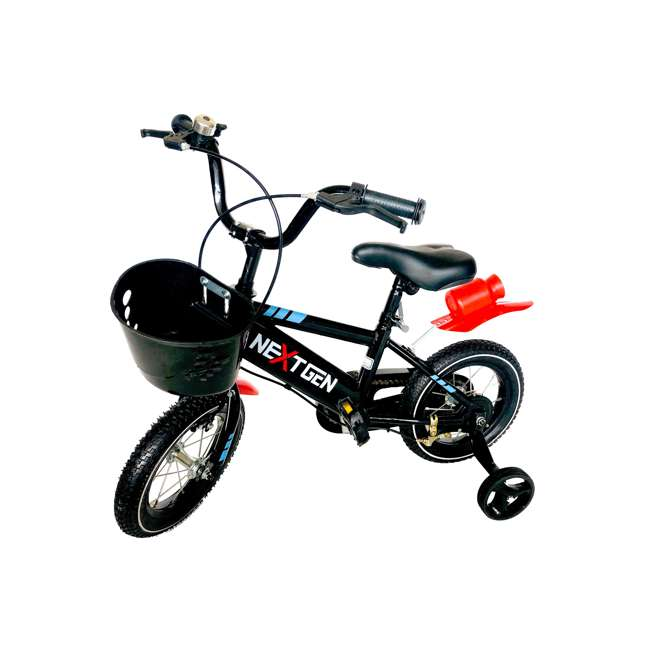 12BK-BLK NextGen 12 Inch Balance Bike with Training Wheels, Black