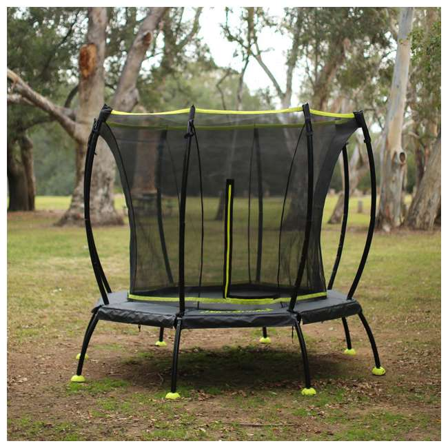 SB-T08ATM02 8-Foot Octagonal Black Trampoline With Safety Net 3
