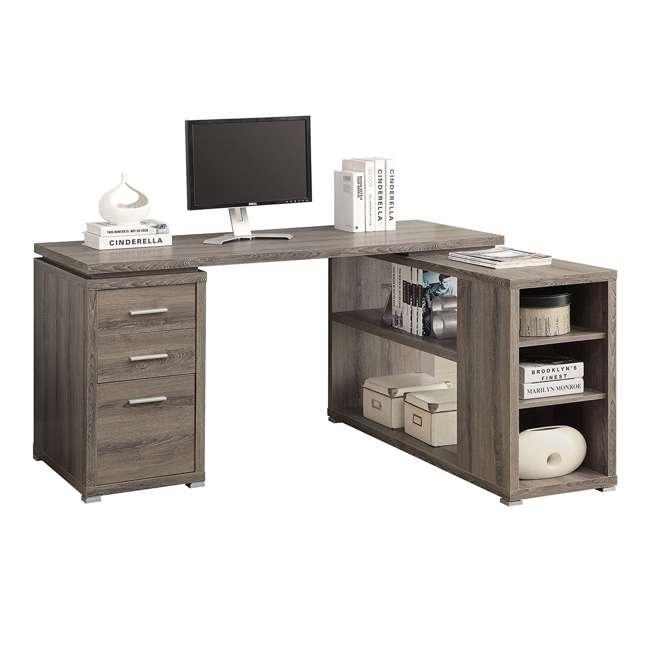 Monarch 60 Inch Contemporary L Shaped Corner Computer Desk
