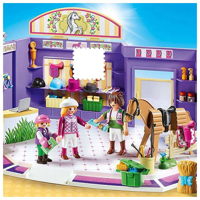 PLAY-9401 Playmobil Horse Tack Shop Kids & Toddler Educational Learning Toy Accessory Set 2