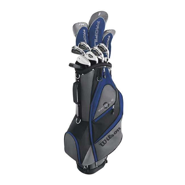 WGGC5820L Wilson Profile XD Men's Senior Left Handed Golf Club Set, Blue 6