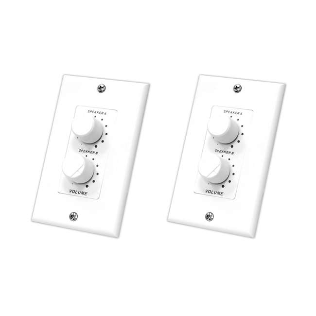 Pyle PVCD15 In-Wall Dual Knob Speaker Volume Controls (Pair)