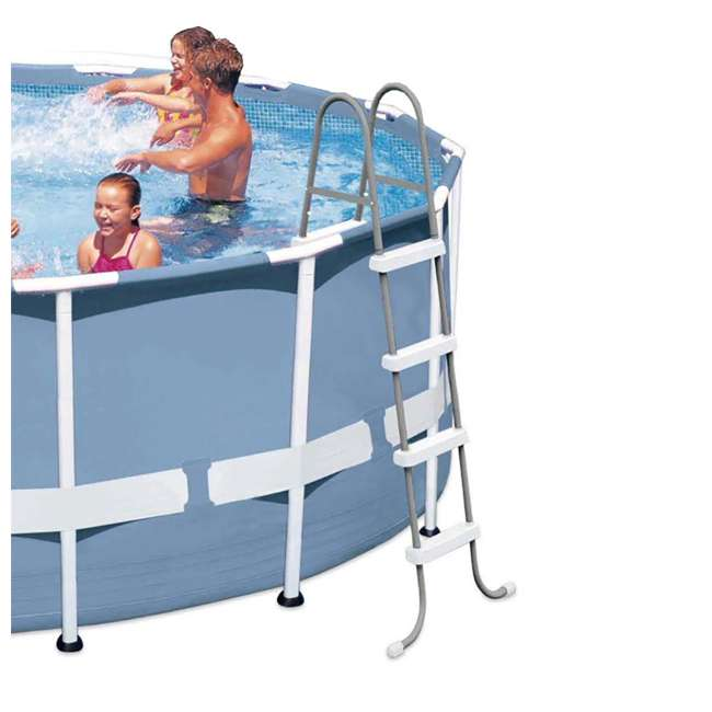 I28066 Intex Above Ground Pool Ladder for 48 Inch Wall Height Pool (Brown Box) 1