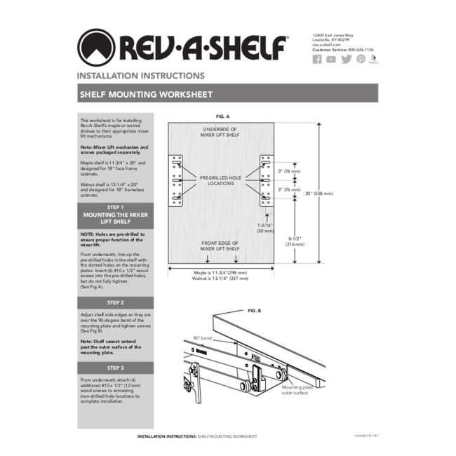 RAS-ML-HDSC Rev-A-Shelf 5CW2 Series 21 Inch 2 Tier Wire Organizer for Cookware, Chrome 6