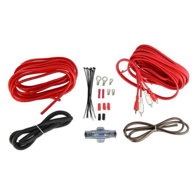 VM-SRA500.2 + VM-SRPK8R + VM-SRCAP4.5 VM Audio SRA500.2 500W 2 Channel Amplifier with 8 Gauge Wiring Kit and 4.5 Farad Capacitor 10