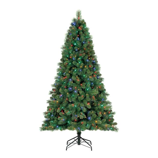 TG70M3W92D00 + GX1623U22F23 Home Heritage 7 Foot Artificial Cascade Pine Christmas Tree with Rotating Stand 2