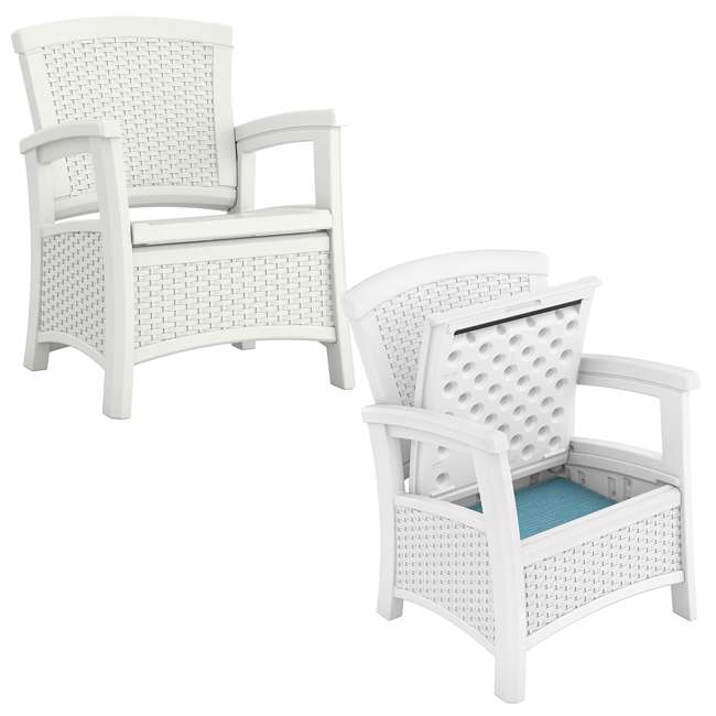 Suncast elements resin wicker design club chair with for Chair design elements