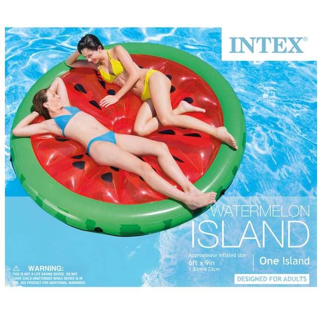 56283EP + 66639E Intex  72-Inch Watermelon Island Raft | Intex 120V Quick Fill AC Air Pump 3