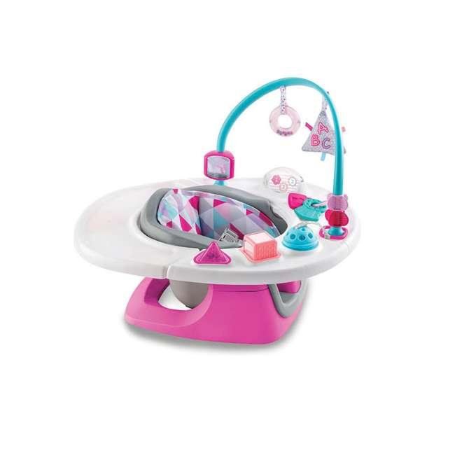13595 Summer Infant Deluxe 4 In 1 Baby Floor Booster SuperSeat Activity Chair, Pink