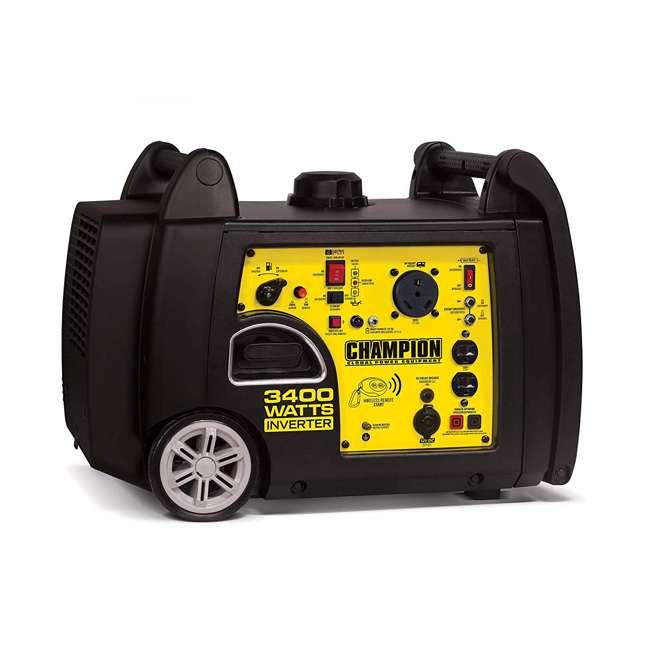 CPE-GN-100261 Champion 100261 34000-Watt Portable Wireless Electric Start Inverter Generator 1