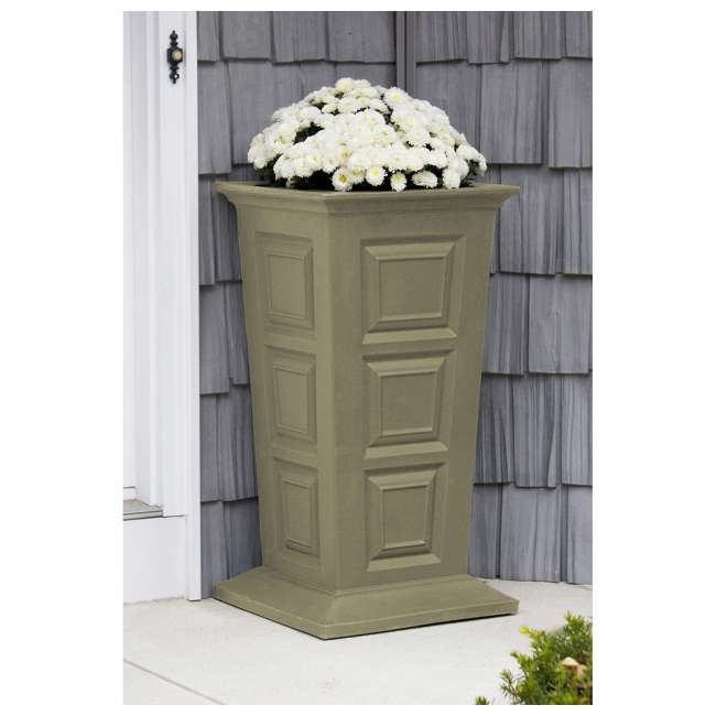 SV-P-SAN Good Ideas Savannah Outdoor Self Watering Colonial Planter Stand, Sandstone 1
