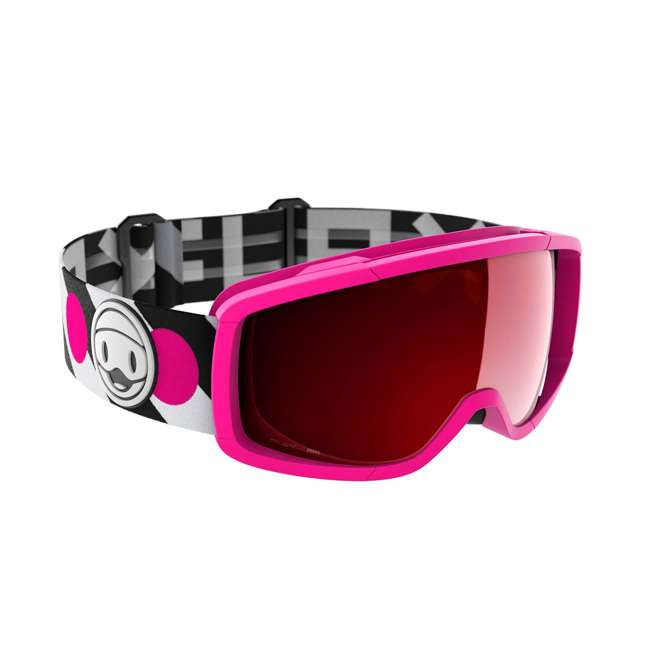 FX809008016ONE Flaxta FX809008016ONE Candy Junior Ski & Snowboard Goggles Pink w/ Red Lenses