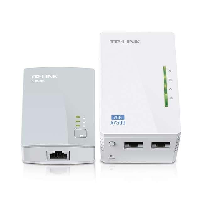 TPL-TL-WPA4220KIT TP-Link 300Mbps Wi-Fi Range Extender AV500 Powerline Starter Kit (2 Pack) 1