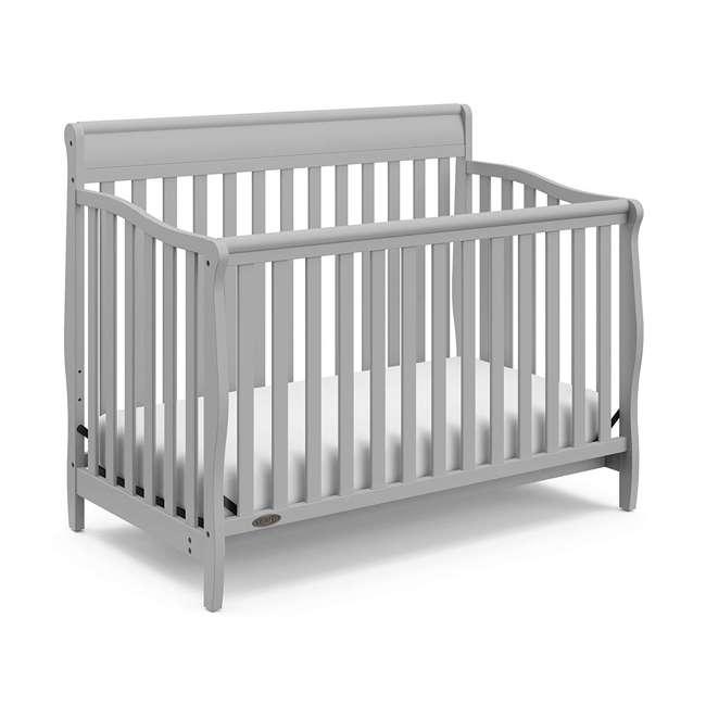 04530-66F + 06711-300 Graco Stanton 4-in-1 Crib in Pebble Gray w/ Natural Foam Mattress 1