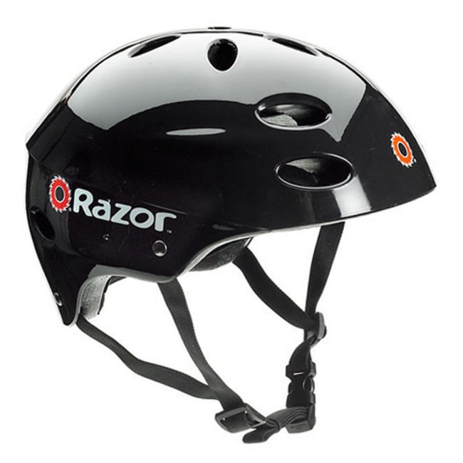 97778 + 20036559 Razor V17 Youth Skateboard/Scooter Sport Helmet & Drifting Ride-On Tricycle, Red 1