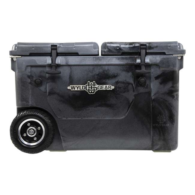 HC50-SB WYLD HC50-SB 50 Qt. Dual Compartment Insulated Cooler w/ Wheels, Black/Silver 4