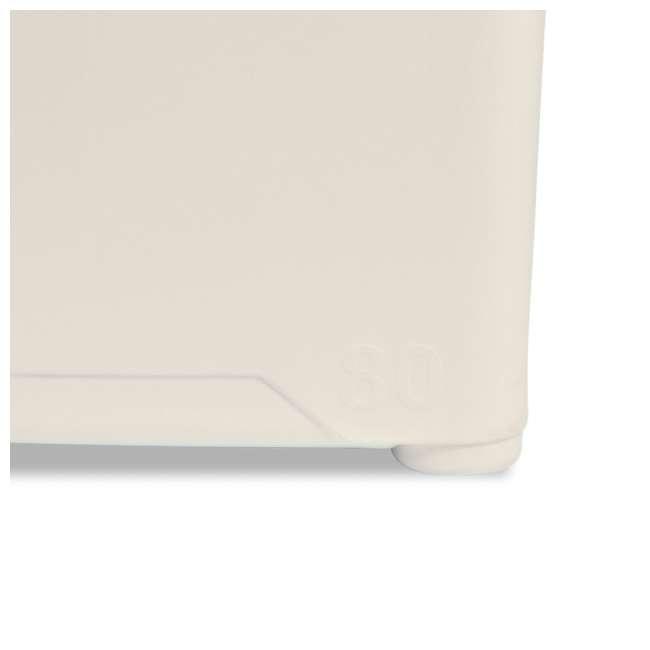 ENG80-CW-U-A Engel Coolers 74 Quart 75 Can Roto Molded Cooler, Coastal White (Open Box) 1