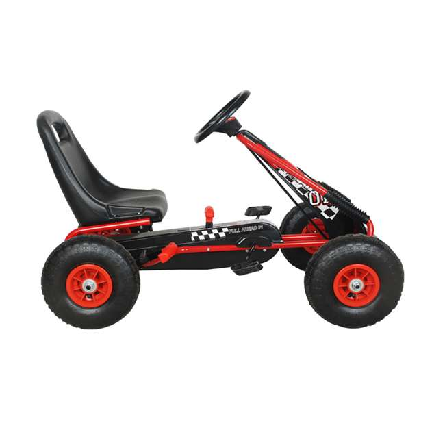 1 PGCR NextGen Pedal Go Cart for Children with Adjustable Seat and Pneumatic Tires, Red 1