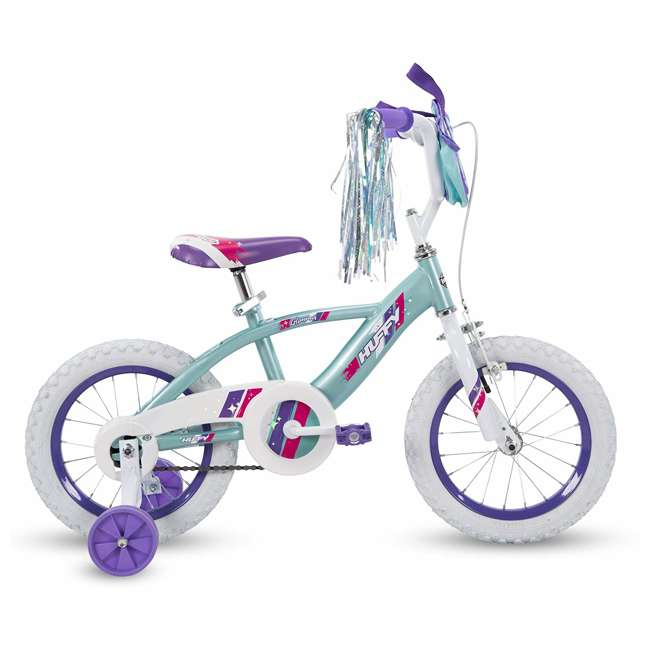 """72058 Huffy Glimmer 12"""" Age 3-5 Kids Bike Bicycle with Training Wheels, Sea Crystal 1"""