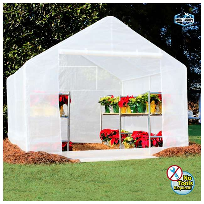 GH1010 King Canopy 10 x 10-Foot Fully Enclosed Greenhouse 1