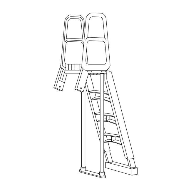 200700T-U-B MAIN ACCESS 200700T Ladder for Above Ground Swimming Pools (Used) (2 Pack)