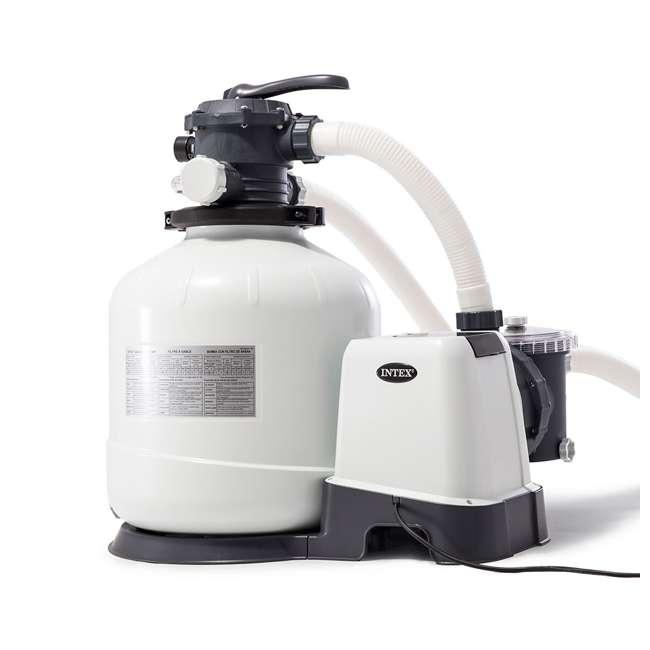 26651EG + 2 x 29060E Intex Pool Sand Filter Pump w/ Pump Hose (2 Pack) 1