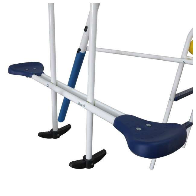 XDP-74303 + XDP-70113 XDP Blue Ridge Play Backyard Swing Set with Slide + Anchor Kit 4