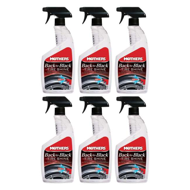 6924 Mothers Polish Back to Black 24 Ounce Tire Shine for Auto Tires (6 Pack)