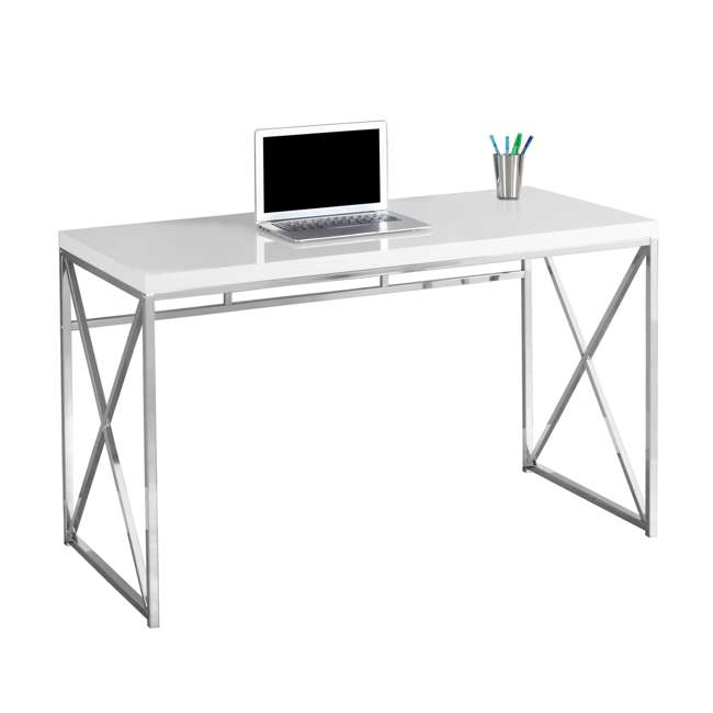 Groovy Monarch Specialties 48 Inch Office Computer Desk Glossy White Beutiful Home Inspiration Semekurdistantinfo