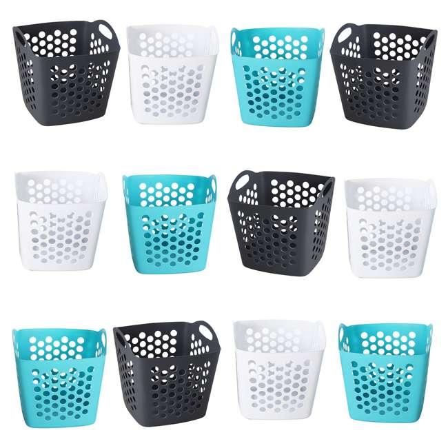 FBA32825 Ezy Storage Flexi 7 Gallon Flexible Plastic Dirty Clothes Laundry Basket Bin