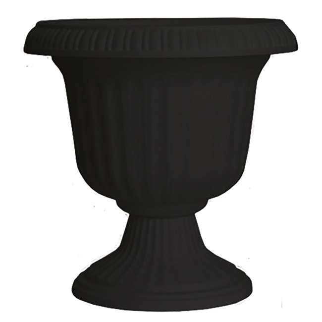 SPAT-UU1412BK Southern Patio Large 14 In Outdoor Lightweight Resin Utopian Urn Planter, Black