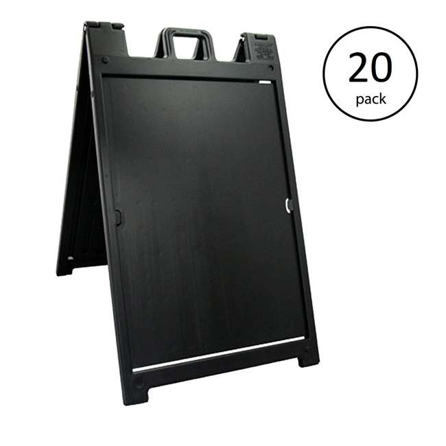 20 x 140NSBK Plasticade Deluxe Signicade Portable Folding Double Sided Sign Stand (20 Pack)