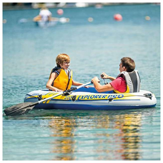 58356WL-U-A Intex Explorer Pro Youth Boat Raft (Oars/Pump Not Included)(Open Box) (2 Pack) 1