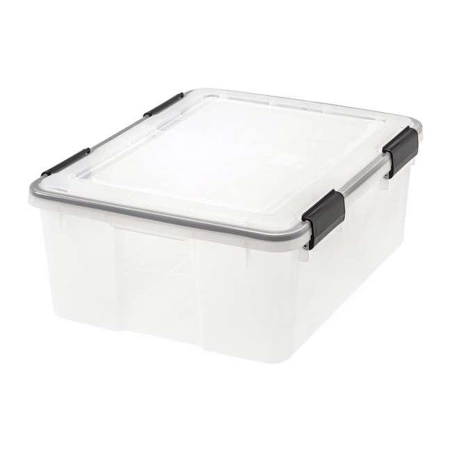 110400 IRIS USA 110400 30.6 Quart Weathertight Plastic Storage Container Box, Clear