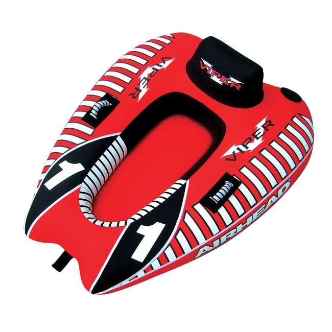 AHVI-F1-OB Airhead Viper 1 Single Rider Cockpit Inflatable Towable Tube | AHVI-F1(Open Box)